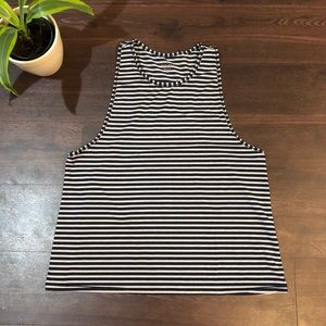 Athleta striped muscle style tank top